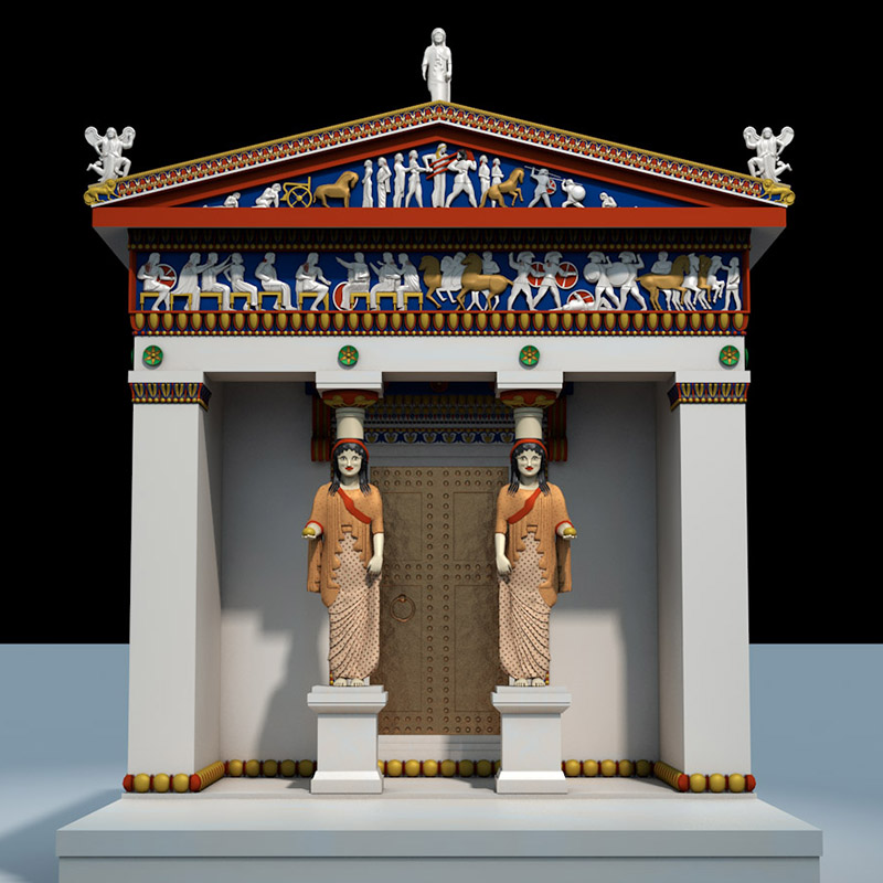 Delphi:siphnian_treasury_reconstruction
