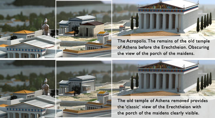 Old temple of athena layout